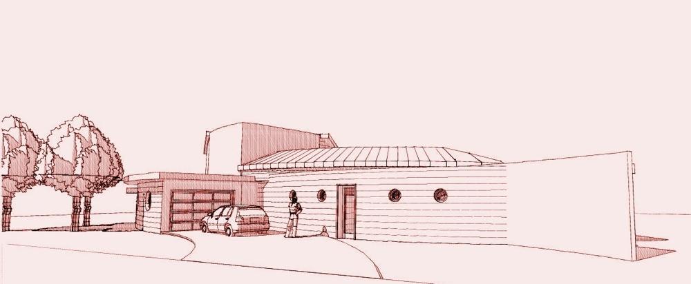 Maison organique en Vendée : Perspective Nord