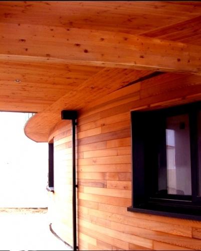 Maison organique en Vendée : Bardage Red Cedar