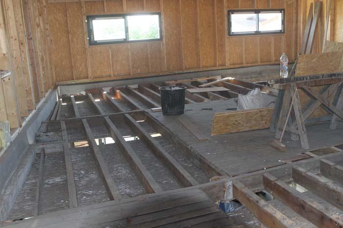 Surélévation en ossature bois : depose plancher