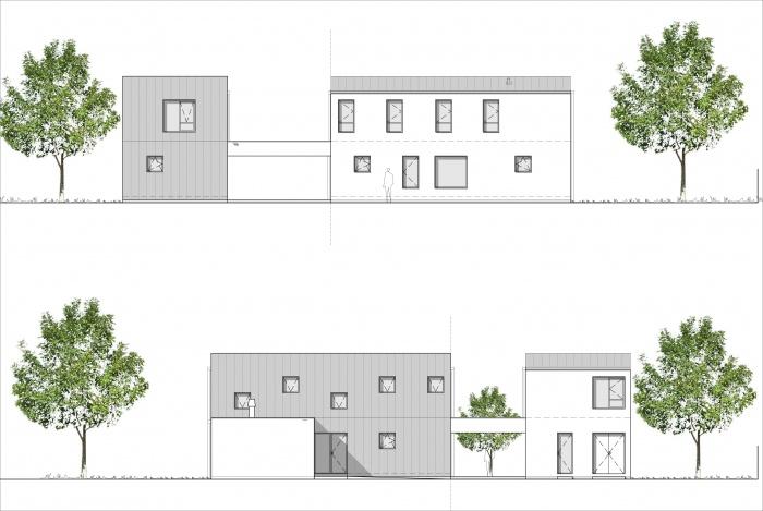 Maison à Ambarès : APPEL A PROJET 308  M+A facade