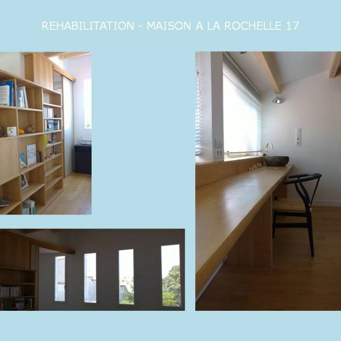 rehabilitation d 39 une maison a la rochelle 17 rochelle la une r alisation de espace a. Black Bedroom Furniture Sets. Home Design Ideas