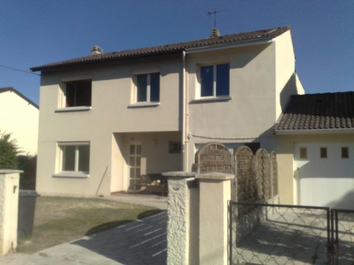 Extension et surélévation d'une habitation - EYSINES : FACADE AVANT FIN