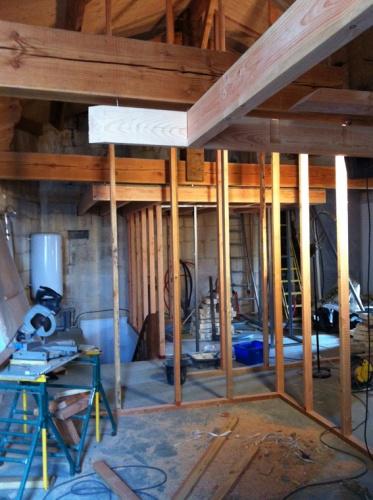 Aménagement de chambres d'hotes et cave a vins - SAINT EMILION : CHANTIER EN COURS