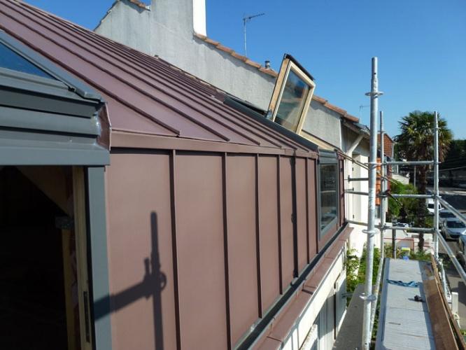 Surélévation P : Détail des verrières de toit