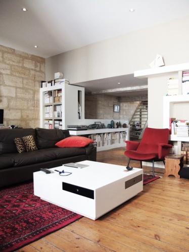Réhabilitation d'une maison de ville : 4. espace tv