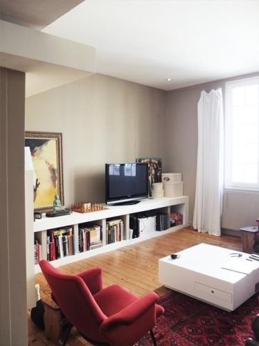 Réhabilitation d'une maison de ville : 3. espace tv