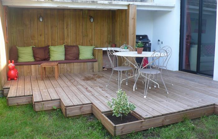 Surélévation en ossature bois : jardin