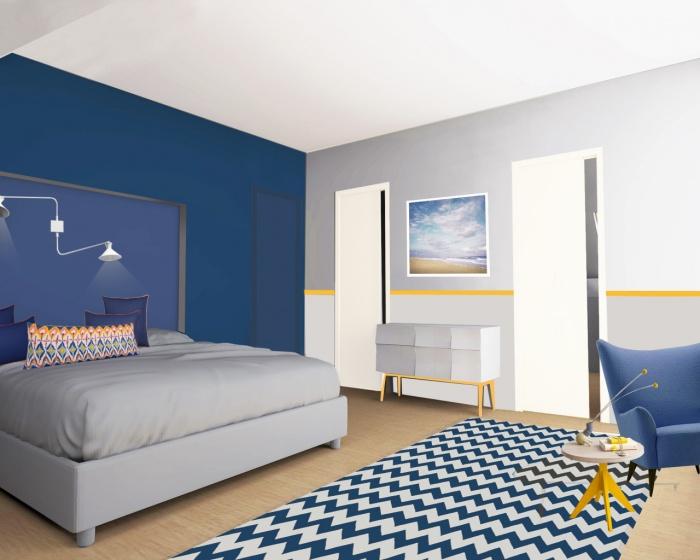 rénovation d'une villa de bord de mer, morbihan, bretagne : chambre