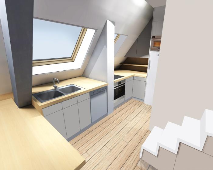 rénovation d'un duplex : cuisine