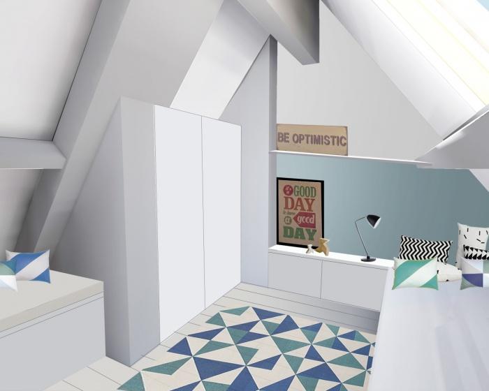 rénovation d'un duplex : chambre
