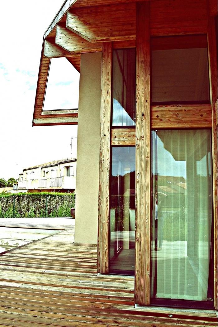 Maison ossature bois en Charente Maritime : maison contemporaine Transparences