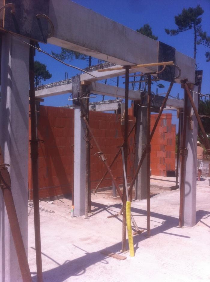 Maison individuelle BBC - ARÈS : chantier