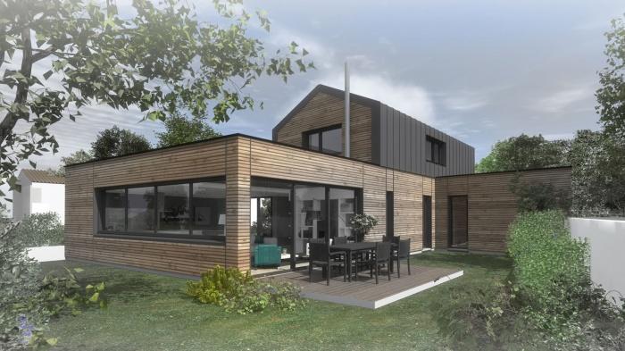 Construction d'une maison à Nantes : maison ossature bois nantes