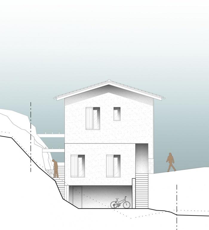 Maison en Corse : Façade Nord