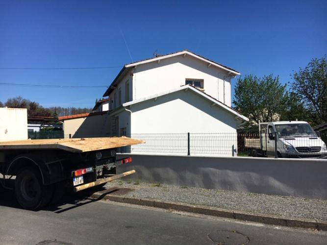 Extension et surélévation d'une habitation existante - PESSAC : Existant avant projet