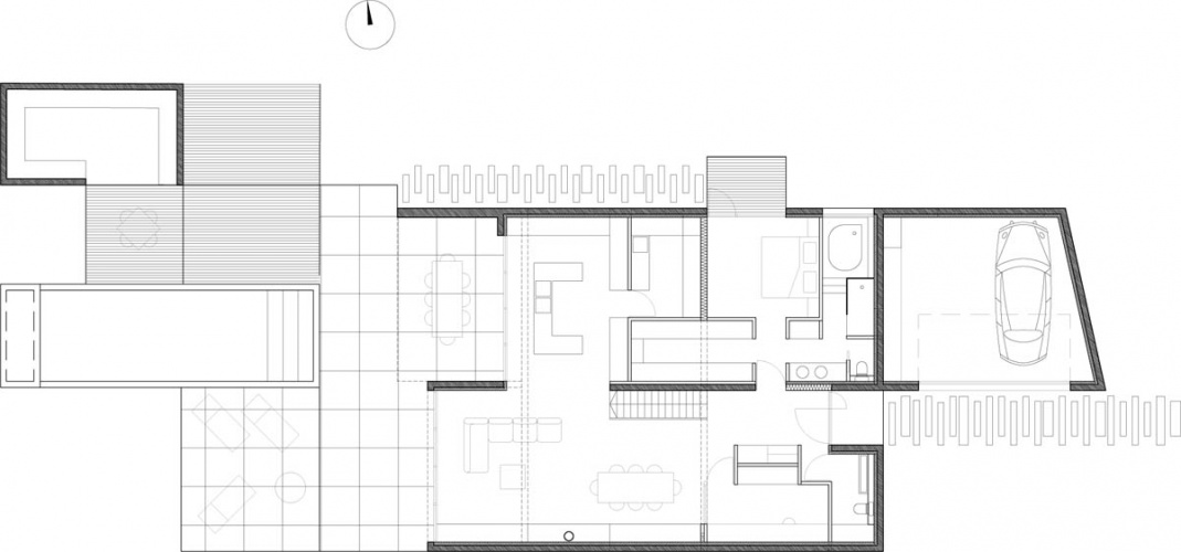 Maison neuve à Villenave d'Ornon : PLAN RDC 100