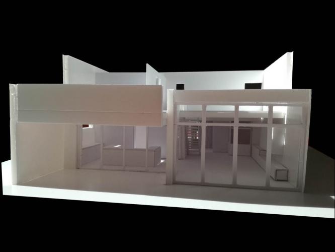 Maison neuve à Villenave d'Ornon : maquette ouest